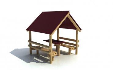 Domeček s lavičkami a stolem - D2