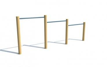 Trojitá hrazda, výška hrazd 0,6/0,8/1,0 m - T6b