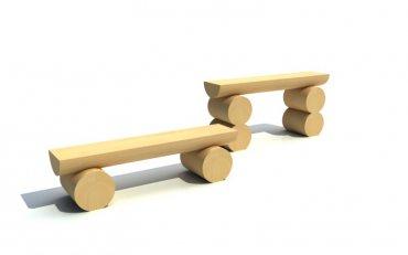 Lavička jednoduchá nízká, délka 1 m, výška 0,25 m - L1