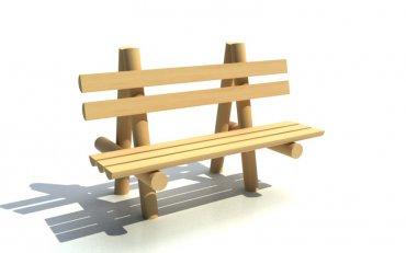 Lavička dřevěná , délka 1,5 m - L3