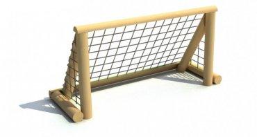 Fotbalová branka 1,5 x 0,8 m se sítí na kovových patkách - T8