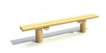 Lavička na dvou kůlech, délka 1,5 m - L6