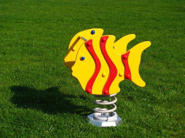 Houpadlo na pružině MP - ryby červené