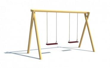 Dvojhoupačka se sedátky  ( baby sedák + 1000,- Kč/ks )  snížená na pádovou výšku 1 m - H4S