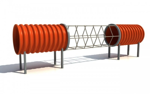 Tunelová prolézačka se síti DN 500 délka 3,5 m