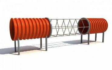 Tunelová prolézačka se síti DN 500 délka 3,5 m - T11