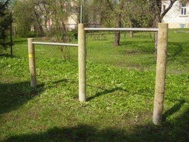 Dvojitá hrazda, výška hrazd 0,8 a 1,0 m